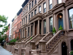 From brick to brownstone.